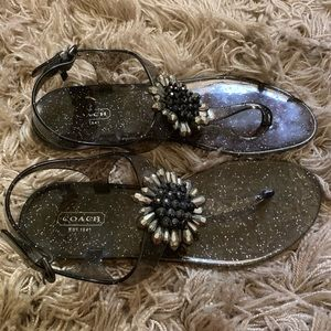 Coach Jelly Sandals Size 8B